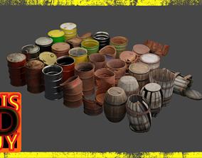 Extensive Barrel Collection 3D model