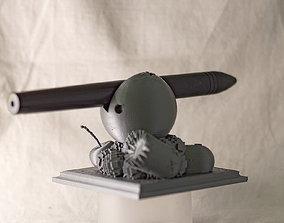 3D printable model Pacman Pencil Holder