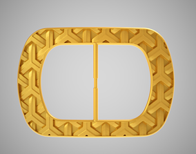 3D printable model Patterned Buckle