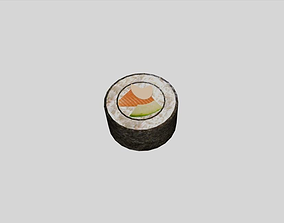 3D model low-poly California Roll Sushi