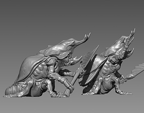 Beetle Guard- 3D printable Character - 2 Poses