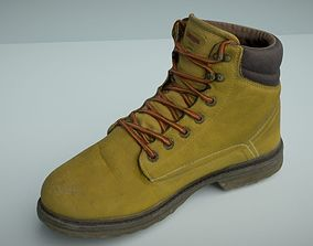 game-ready Boot 3D model low poly clothing
