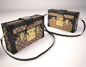 3D Louis Vuitton Petite Malle Handbag