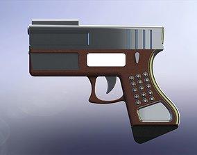 3D model Conceptual gun 6