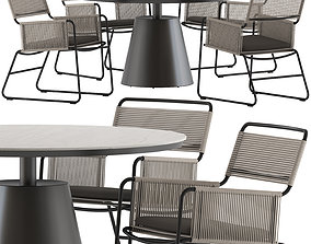 3D model Coco Republic Milan Chair and Polo Table