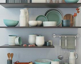 set for kitchen 02 3D