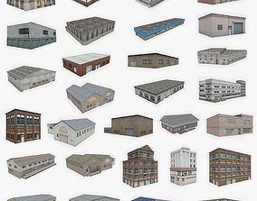 29 Industrial Buildings Collection 3D asset