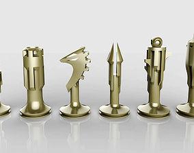 Chess set knight 3D printable model