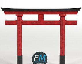 3D model Japanese Torii gate