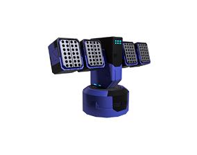 Sc fi Turret Blue 3D model