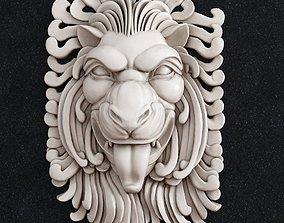 3D printable model Lion head Decor