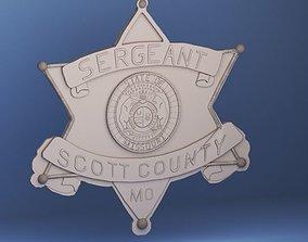 Scott County Police Badge 3D print model