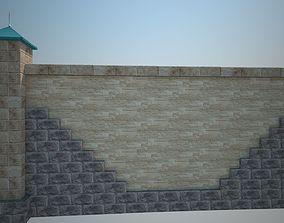 3D asset Model of section of ornamental fence estate