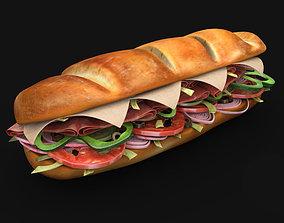 subway sandwich 3D model