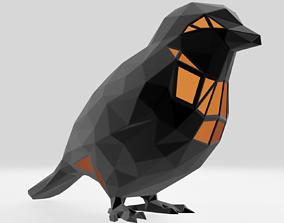 3D printable model Polygonal Sparrow Parametric
