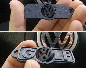 vw-golf-logo-keychain 3D printable model