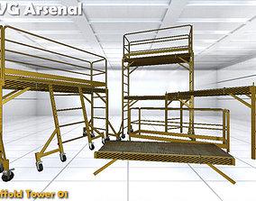 3D model Modular Scaffold - HQ