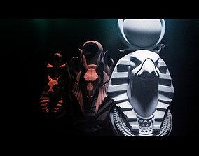 Egyptian gods pendants 3D print model