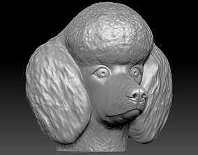 Poodle head for 3D printing