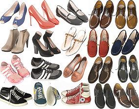 Big set of shoes 3D model