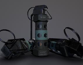 M-84 Stun Grenade 3D asset