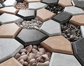 Paving Ngon pebble n2 3D