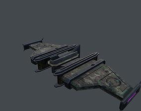 3D asset VR / AR ready Spaceship aircraft