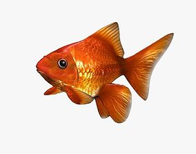3D asset realtime Gold Fish