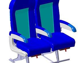 Detailed Passenger Economy Class Seating 3D model