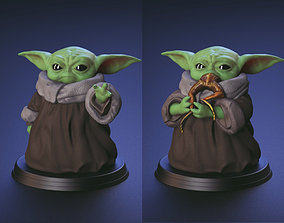 Baby Yoda - Using The Force and Eating 3D print model 3