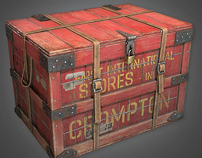 3D asset Old Shipping Crate Antiques - PBR Game Ready
