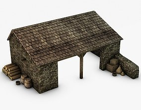 Farm stable with props 3D