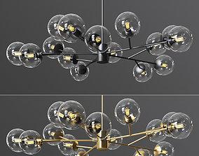 3D model Orion 15 Light Pendant in Gold Black