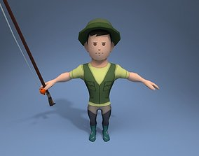 3D model Medieval Fisherman
