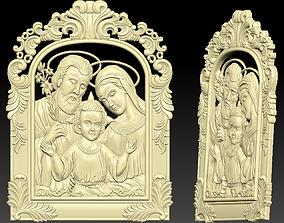 The Holy Family 3D print model cnc