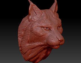 3D printable model head lynx