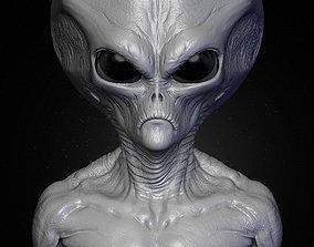 3D Realistic Alien 7 Sculpt