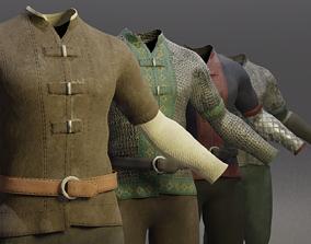 Four Guard Man Suits 3D asset