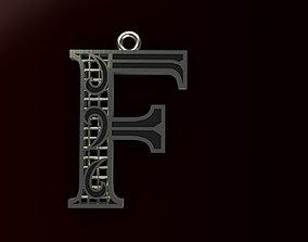 Alphabet Pendant 3D printable model