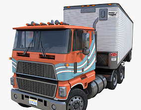 Industrial cabover van trailer 3D asset VR / AR ready