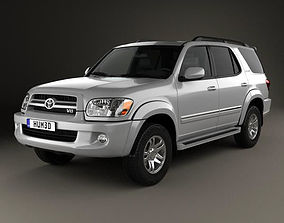 3D model Toyota Sequoia Limited 2004