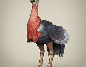 Game Ready Fantasy Ostrich 3D model