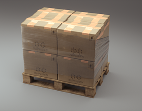 cardboard 3D model PBR