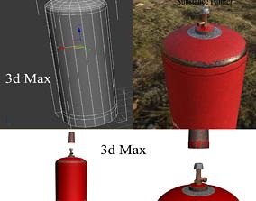 gas bottle 3D asset low-poly