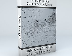 Santiago Streets and Buildings 3D model topology