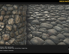 PBR Rock Material Stylized 3D model