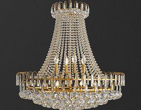 3D model Luxury Royal Empire Golden European Crystal