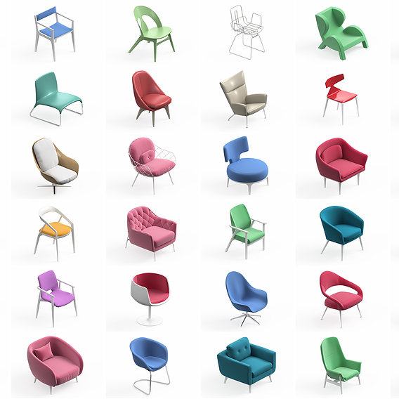 Armchair Modern Collection 36x