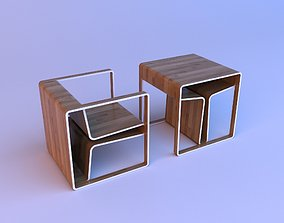 Chair and table - one-stop solution 3D