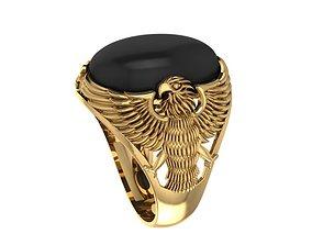 Ring Men 3D print model amethyst